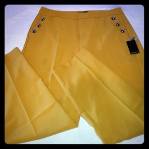 Eloquii size 16 yellow sailor pants